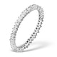 9K White Gold Diamond Claw Set Full Eternity - E4831 - image 1