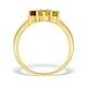 9K Gold Diamond and Multi Stone Ring - E4079 - image 2