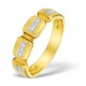 9K Gold Diamond Half Eternity Style Ring - E4016 - image 1