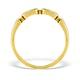 9K Gold Diamond Half Eternity Style Ring - E4016 - image 2