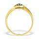 9K Gold Blue Diamond Design Ring - E4188 - image 2