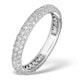 9K White Gold Diamond Full Eternity Ring 1.00ct - E5213 - image 1