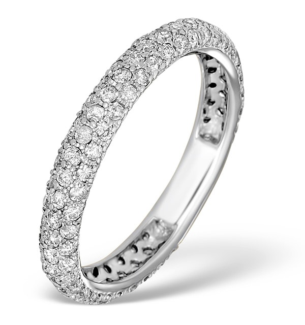 9K White Gold Diamond Full Eternity Ring 1.00ct - E5213 - image 1