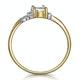 Aquamarine 0.70CT And Diamond 9K Yellow Gold Ring - image 3