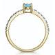 Aquamarine 0.35CT And Diamond 9K Yellow Gold Ring - image 3