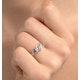 Tanzanite 0.50CT And Diamond 9K White Gold Ring - image 4