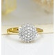 9K Gold Diamond Cluster Ring 0.50ct - E5607 - image 2
