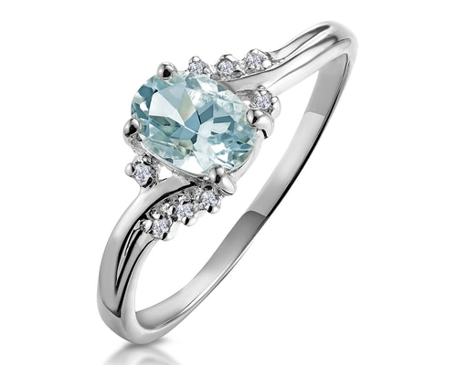 aquamarine white gold engagement rings