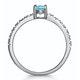 0.35ct Aquamarine 0.08ct Diamond and 9K Gold Ring -  E5775 - image 3