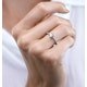 0.35ct Aquamarine 0.08ct Diamond and 9K Gold Ring -  E5775 - image 2