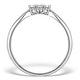 Diamond 0.04ct 9K White Gold Cluster Ring - E5885 - image 2