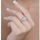 Diamond 0.10ct 9K White Gold Large Cluster Ring - E5888 - image 3