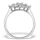 Diamond 0.10ct 9K White Gold Large Cluster Ring - E5888 - image 2