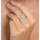Blue Topaz 8 x 6mm and Diamond 9K White Gold Ring - image 3