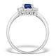 Sapphire 7 x 5mm and Diamond 9K White Gold Ring  E5891 - image 2