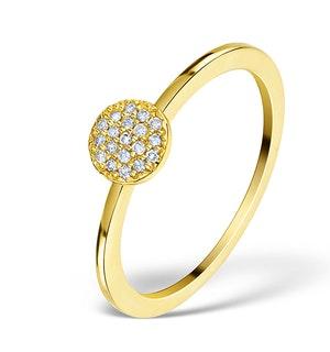 0.30ct Diamond and 9K Gold Daisy Ring - E5800