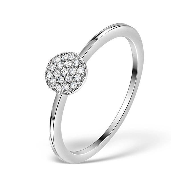 0.30ct Diamond and 9K White Gold Daisy Ring - E5801 - image 1