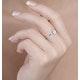 0.30ct Diamond and 9K White Gold Daisy Ring - E5801 - image 3