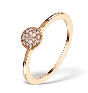 0.30ct Diamond and 9K Rose Gold Daisy Ring -  E5812