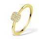 0.22ct Diamond and 9K Gold Daisy Ring - E5816 - image 1
