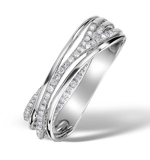 0.21ct Diamond and 9K White Gold Ava Ring - E5925