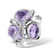 4.75ct Amethyst 0.14ct Diamond and 9K White Gold Ring - E5927 - image 1
