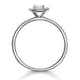 Ella Halo Diamond Engagement Ring 0.50ct set in 9K White Gold - image 2