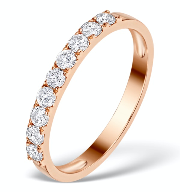Vivara Collection 0.55ct Diamond and 9K Rose Gold Ring E5938 - image 1
