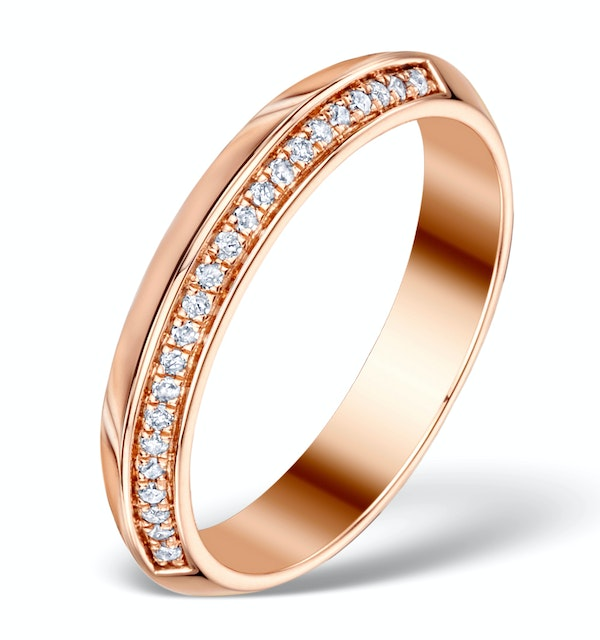 Vivara Collection 0.11ct Diamond and 9K Rose Gold Ring E5939 - image 1