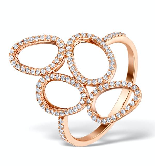 Vivara Collection 0.37ct Diamond and 9K Rose Gold Ring E5942 - image 1