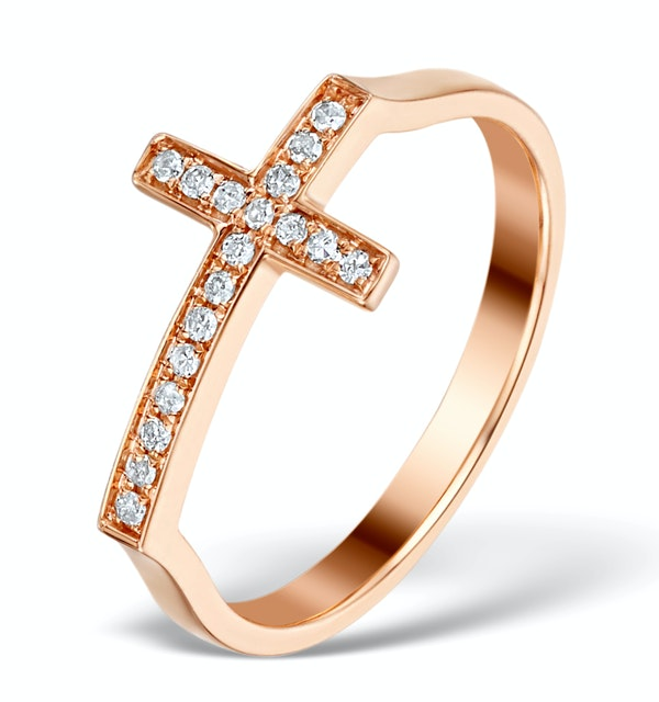 Vivara Collection 0.11ct Diamond and 9K Rose Gold Ring E5944 - image 1