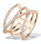 Vivara Collection 0.74ct Diamond and 9K Rose Gold Ring E5953 - image 1
