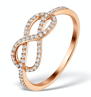 Vivara Collection 0.31ct Diamond and 9K Rose Gold Ring E5958 - Only SIZE P left