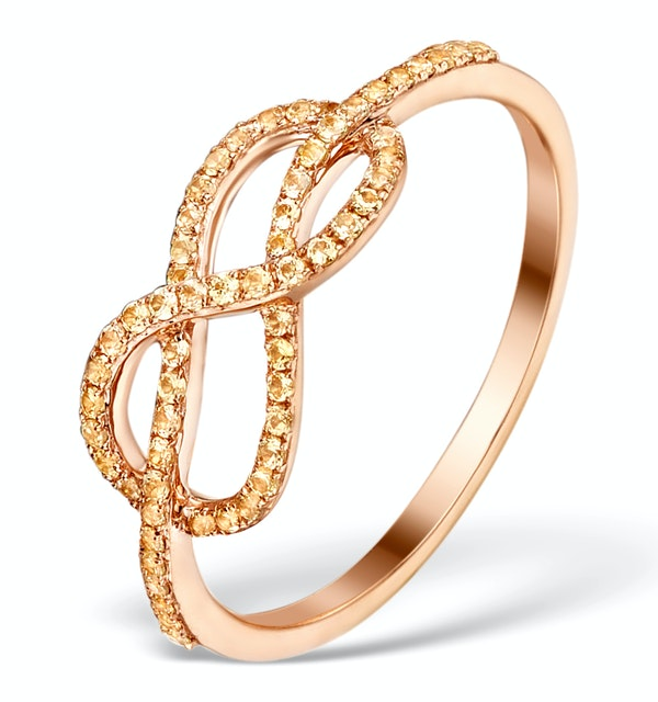 Vivara Collection 0.31ct Yellow Sapphire and 9K Rose Gold Ring E5959 - image 1
