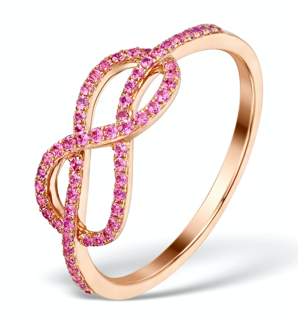Vivara Collection 0.30ct Pink Sapphire and 9K Rose Gold Ring E5950 - image 1