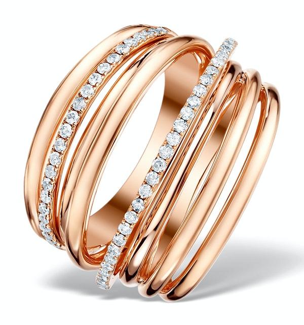 Vivara Collection 0.53ct Diamond and 9K Rose Gold Ring E5962 - image 1