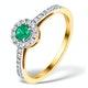 Emerald Halo Martini 0.25CT Diamond Ring in 9K Gold E5966 - image 1
