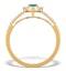 Emerald Halo Martini 0.25CT Diamond Ring in 9K Gold E5966 - image 2