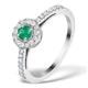 Emerald Halo Martini 0.25CT Diamond Ring in 9K White Gold E5967 - image 1
