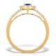 Sapphire Halo Martini  0.25CT Diamond Ring in 9K Gold E5968 - image 2