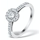 Halo Engagement Ring Martini Diamond 0.45CT Ring 9K White Gold E5973 - image 1