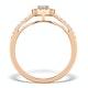 Halo Engagement Ring Martini Diamond 0.45CT Ring in 9K Rose Gold E5974 - image 2