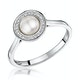 Pearl and Diamond Stellato Ring 0.08ct in 9K White Gold - image 1