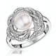Pearl and Diamond Stellato Ring 0.20ct in 9K White Gold - image 1