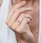 Stellato Champagne Halo Diamond Ring 0.15ct in 9K White Gold - image 2