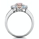 Rose Quartz Blue Topaz and Diamond Stellato Ring in 9K White Gold - image 3