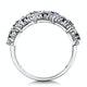 Blue Topaz Sapphire and Diamond Stellato Ring in 9K White Gold - image 3