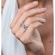 Blue Topaz Sapphire and Diamond Stellato Ring in 9K White Gold - image 2