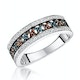 Stellato Collection Multi Colour Diamond Ring 0.23ct in 9K White Gold - image 1