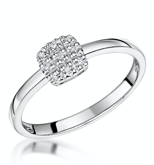 Stellato Collection Diamond Ring 0.03ct in 9K White Gold - E5995 - image 1